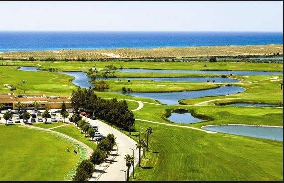 Golf holidays Salgados Golf Course birdseye view